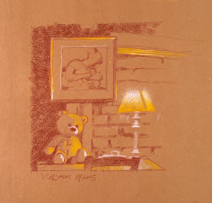 Alfons Kiefer Illustration Artwork Paintings